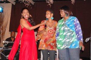 Germaine Wilson with Ruth Osman and Brenda Butler.