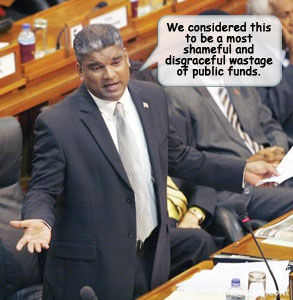 (Sen. The Hon. Anand Ramlogan. Photo by Azlan Mohammed courtesy Newsday)