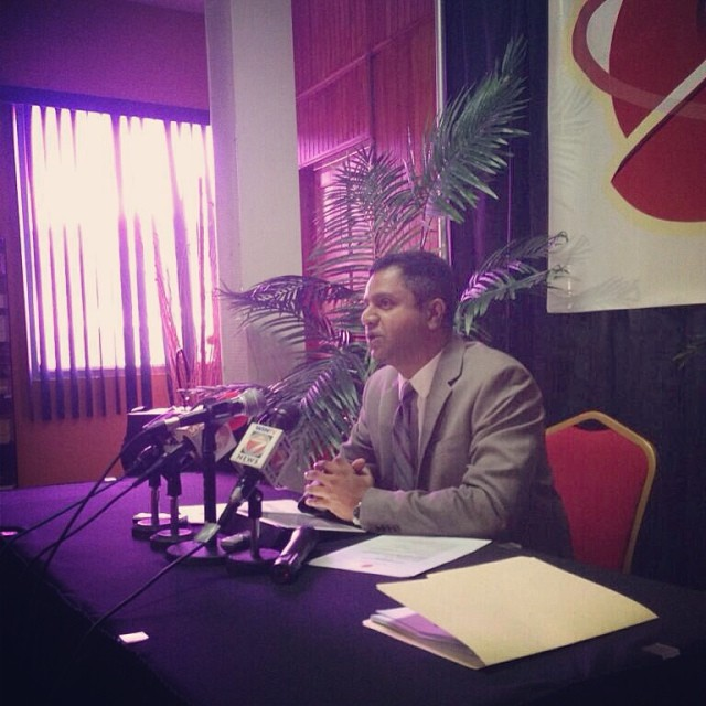 Southex CEO, George Singh at recent press conference. Photo courtesy George Singh Instagram