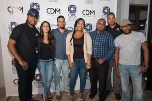 CDM Generation Founder Karrilee Fifi (2nd left) with DJ/Producer group Ultimate Rejects and Singer, Rosezanna (centre). Photo courtesy GlowTT
