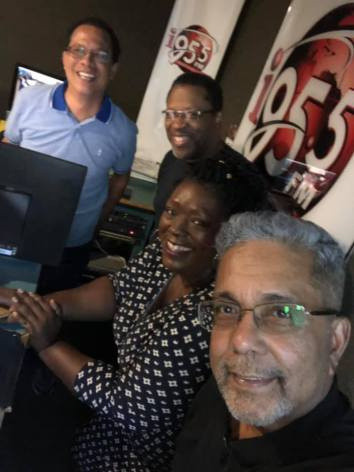 (l-r) Roger Lee Aping, Nigel Campbell, Laura Dowrich-Phillips, Dominic Kalipersad